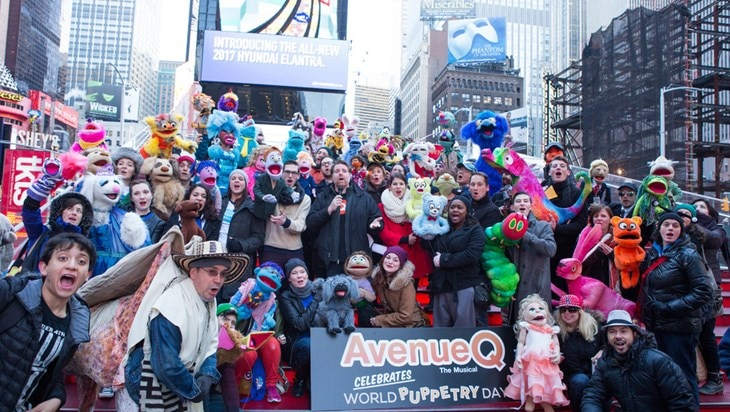 Avenue Q Celebrates World Puppetry Day in Times Square