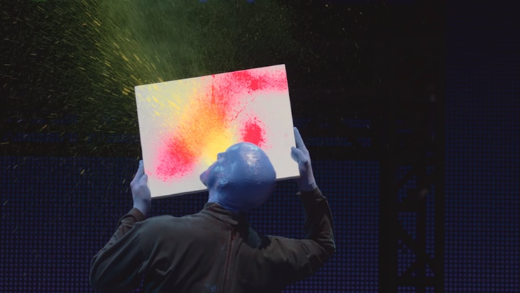 Video: Unmaking the Mess at Blue Man Group