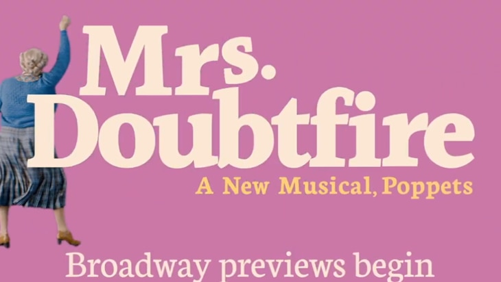 Video: Your First Glimpse Of Broadway's Mrs. Doubtfire