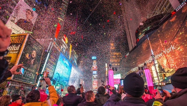 Broadway on New Year's Eve
