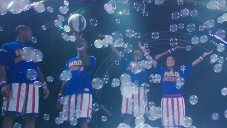 Video: The Harlem Globetrotters and Preschoolers Spin Basketballs Inside Bubbles