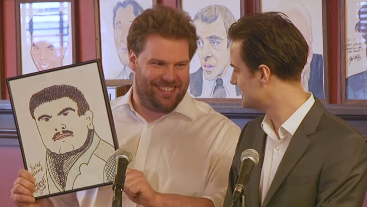 Video: The Play That Goes Wrong (Kinda) Gets a Sardi's Caricature